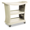 Rubbermaid Commercial Executive Service Cart, 3-Shelf, 20-1/3w x 38-9/10d, Platinum