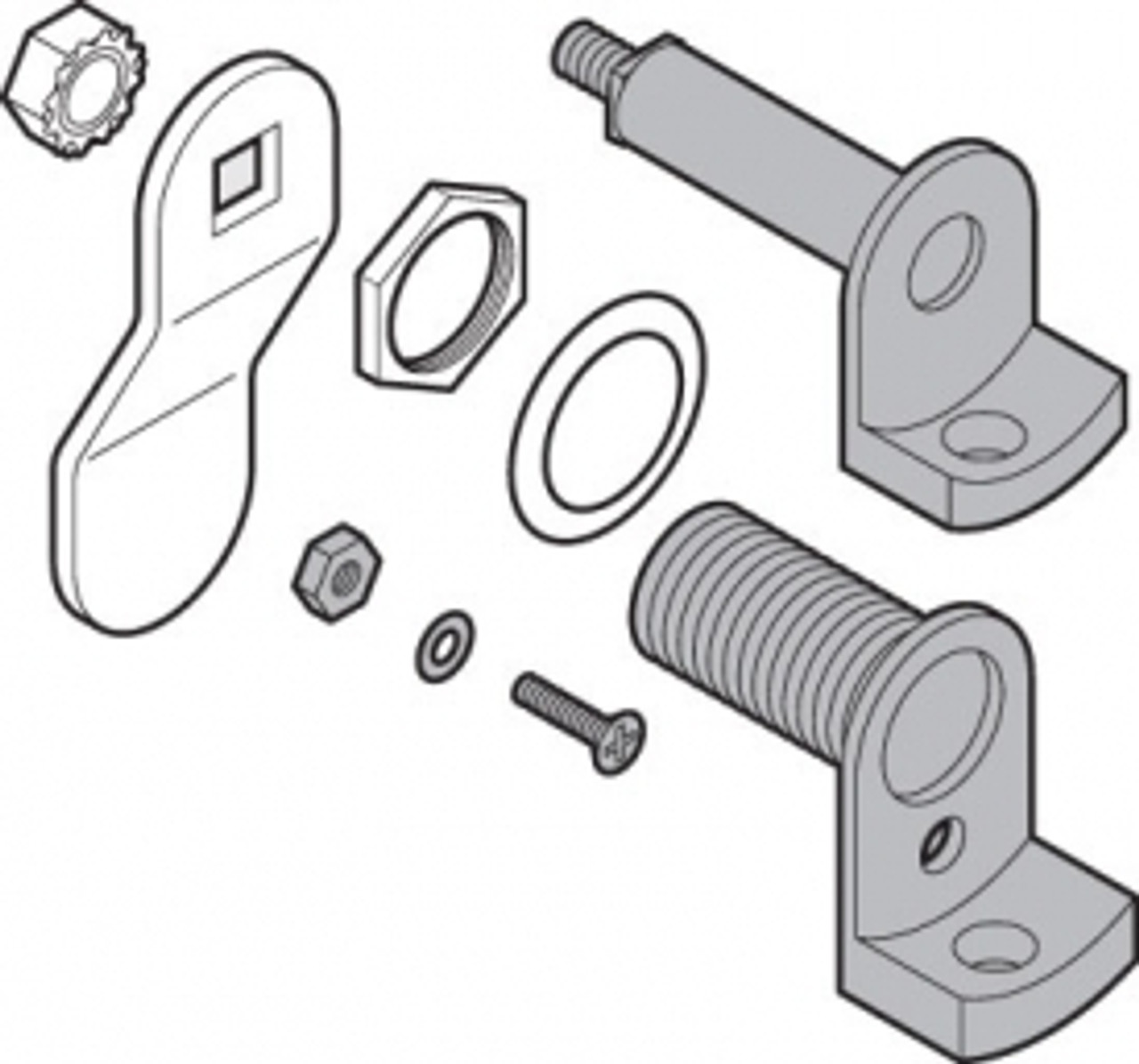Cabinet Latch Kit Without Lock