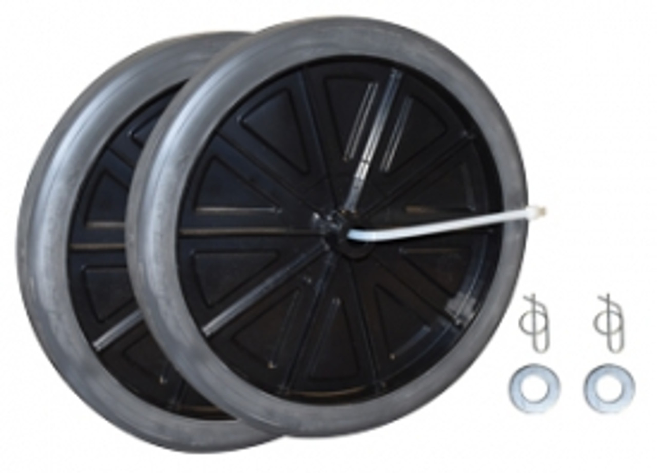 "Rubbermaid Replacement 12"" Wheel kit for 9W71"