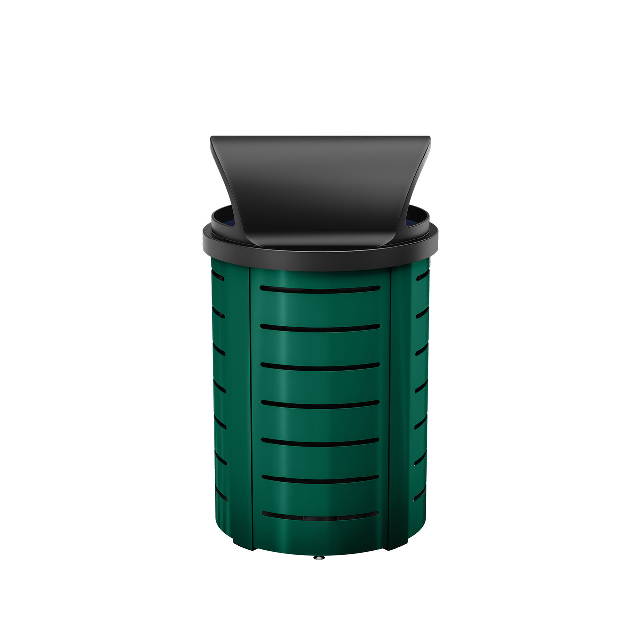 Suncast Metal Trash Can - Roto Molded Lid - Dark Green