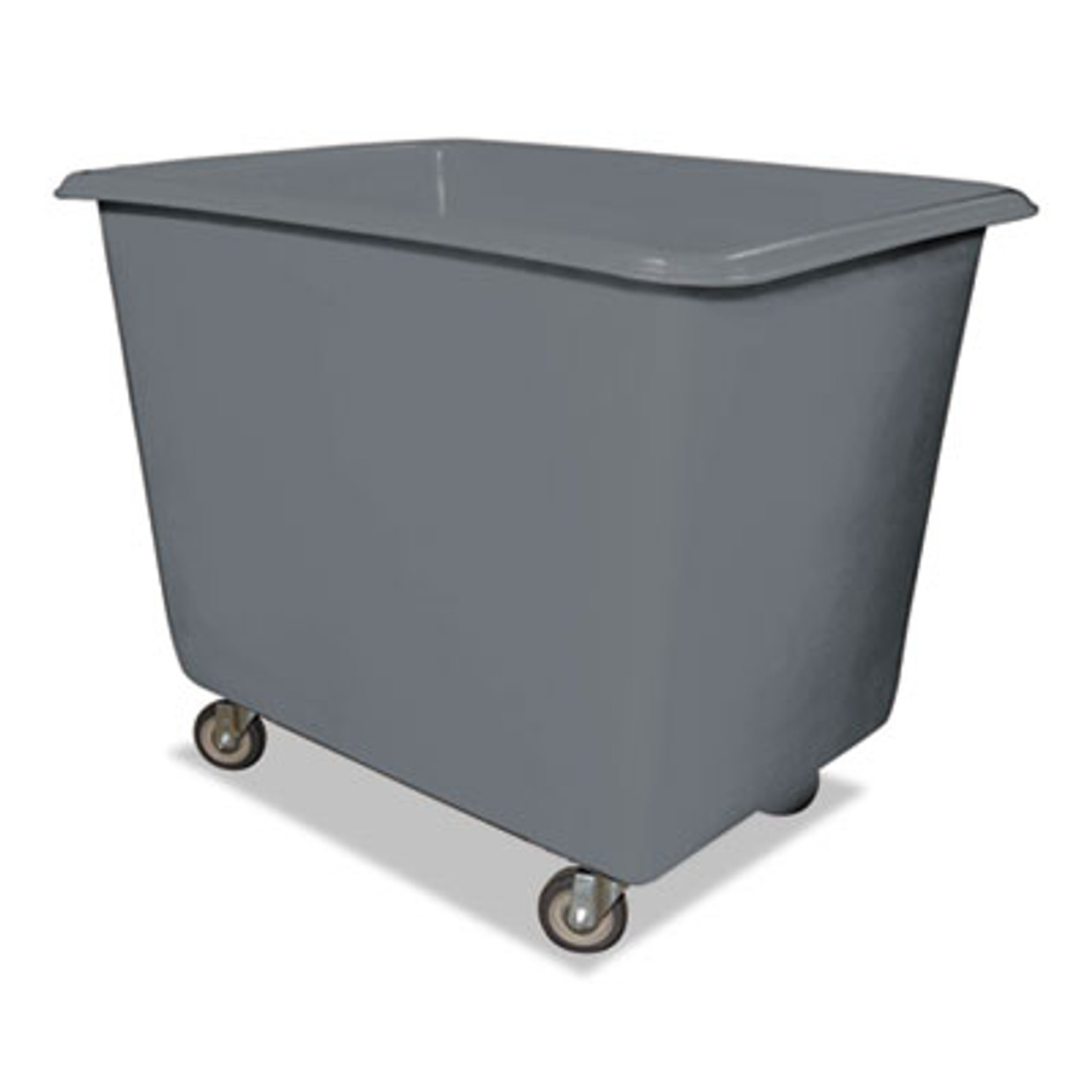 Royal 8 Bushel Poly Truck w/Galvanized Steel Base, 26 x 38 x 28 1/2, 800 lbs Cap, Gray