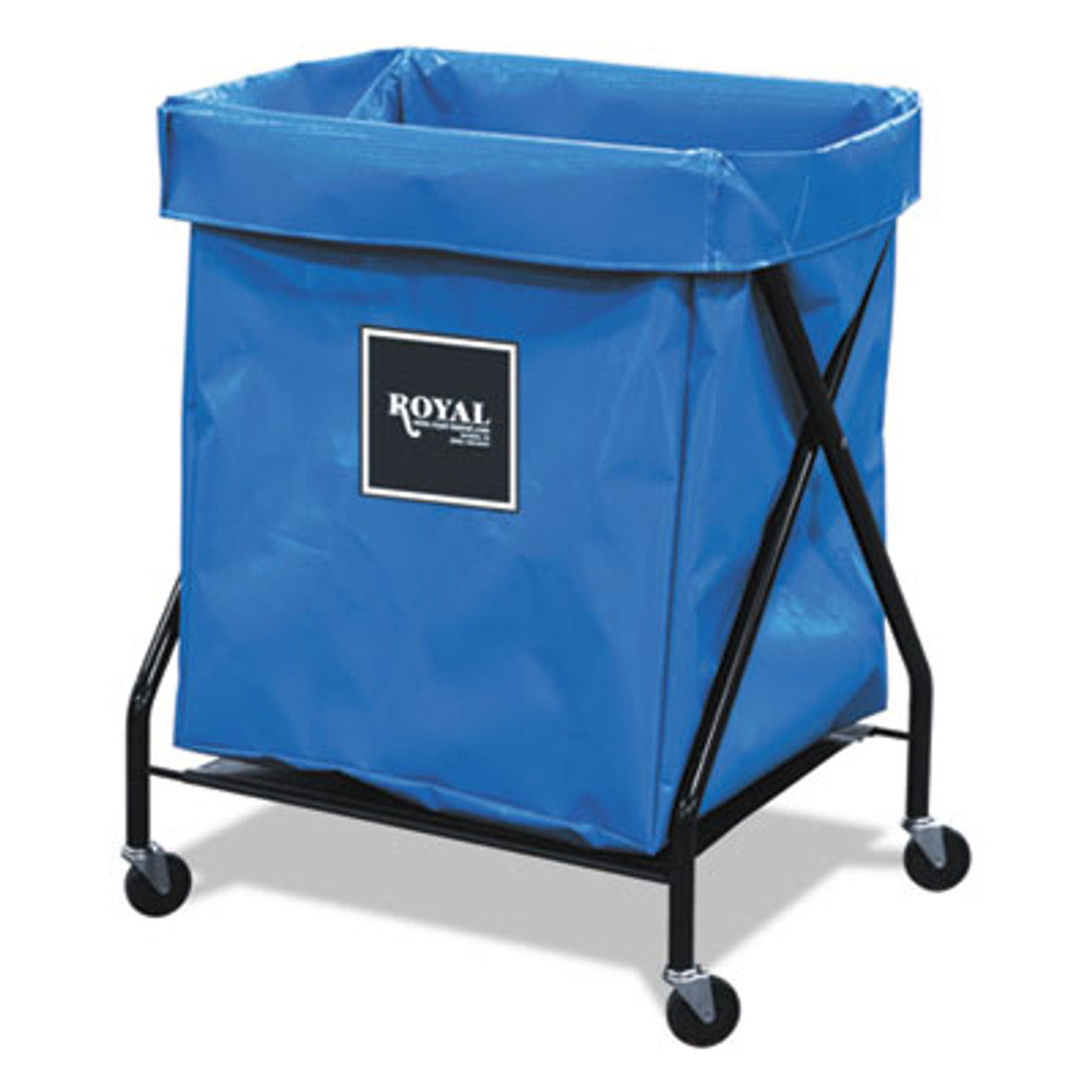 Royal 8 Bushel X-Frame Cart with Vinyl Bag, 21 x 26 x 36, 150 lbs. Capacity, Blue