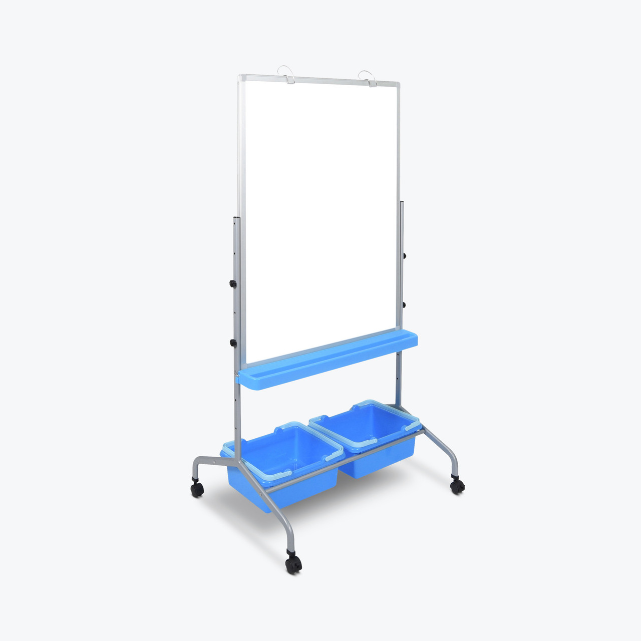 Classroom Chart Stand with Storage Bins L330