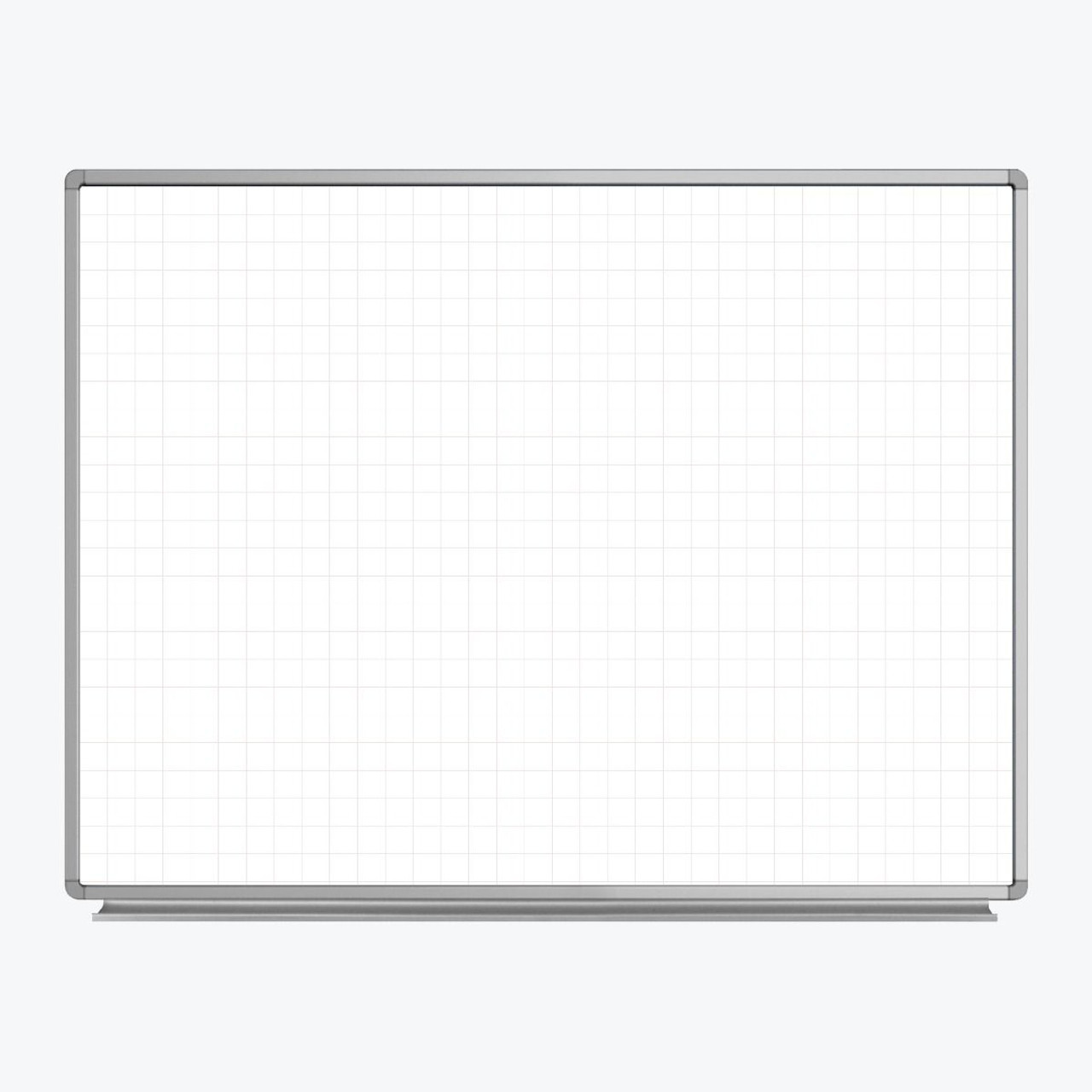 48 x 36 Wall-Mounted Magnetic Ghost Grid Whiteboard WB4836LB