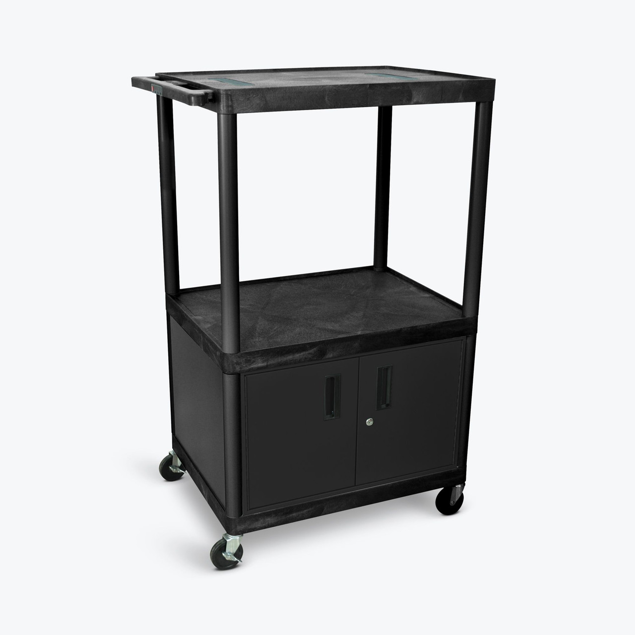 "54"" Endura A/V Cart - Two Shelves, Cabinet LE54C-B"