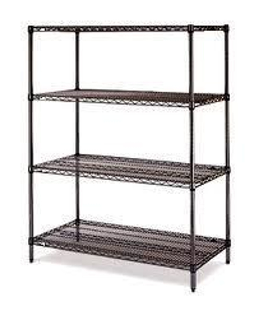 "Olympic 18"" Deep 4 Shelf Starter Units - Black - 18"" x 24"" x 54"" J1824-54B"