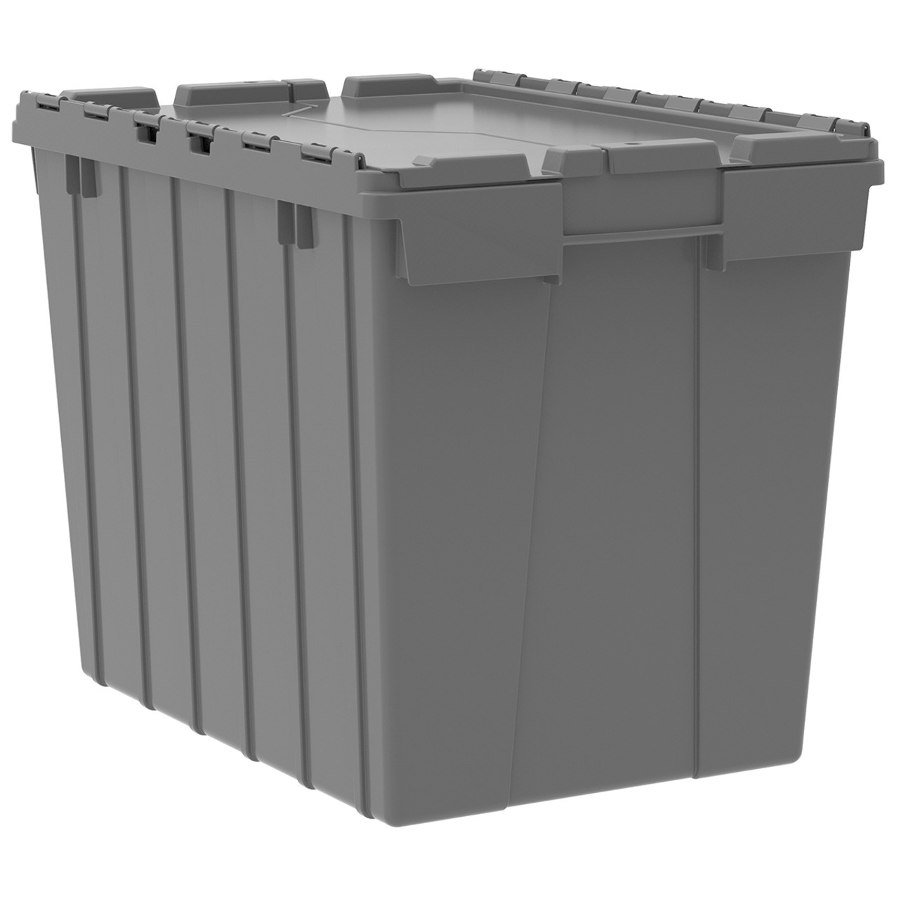 Container, Attached Lid Container 17 gal, Gray  39170