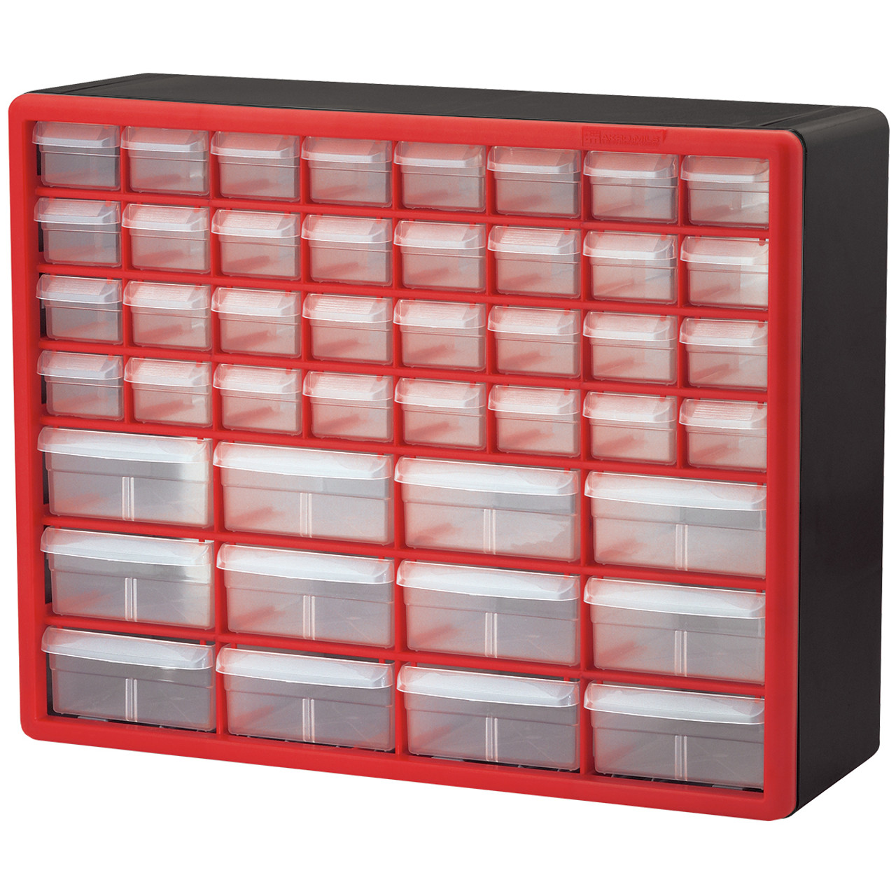 Case, Plastic Storage Cabinet 44 Drawer 10144REDBLK