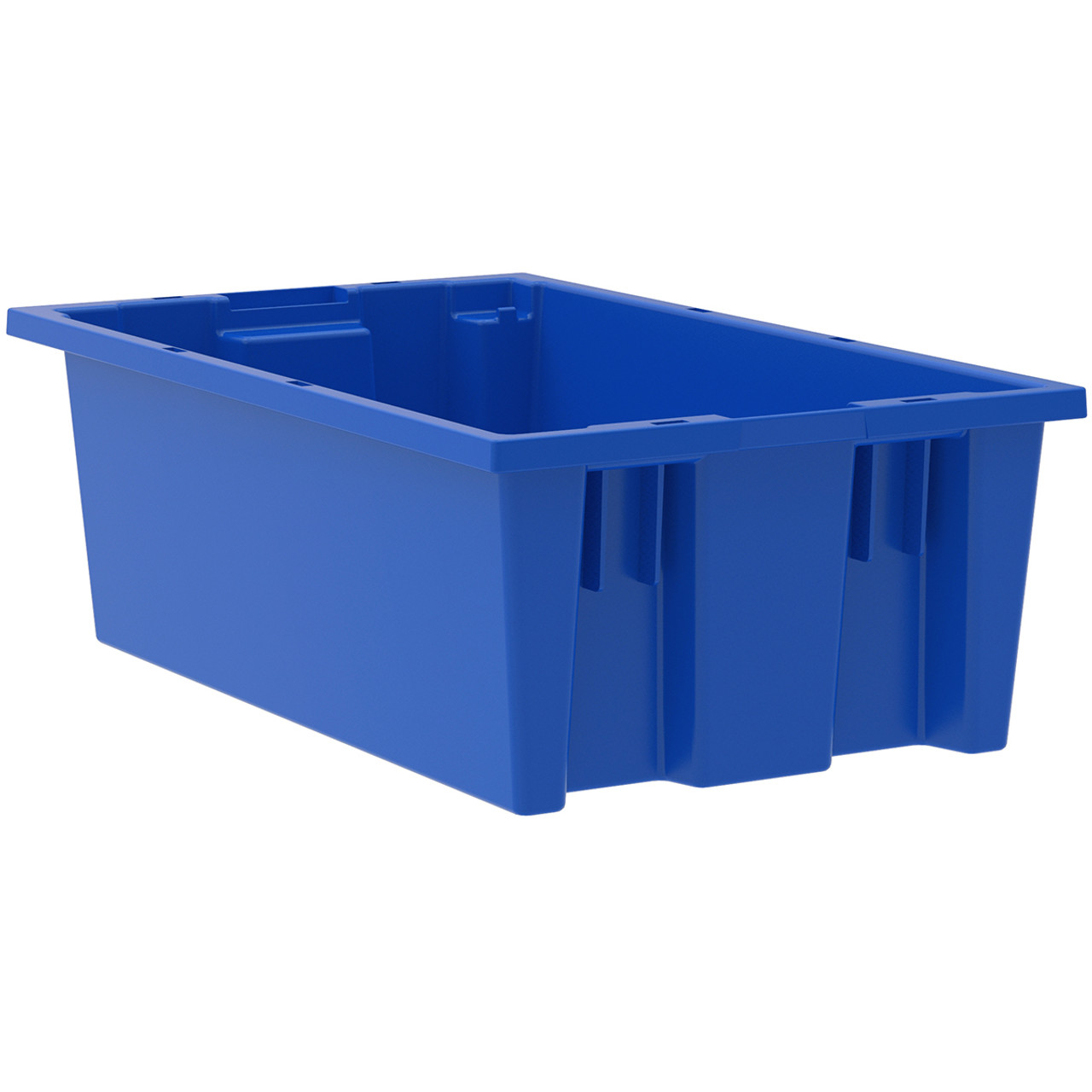 Tote, Nest/Stack,Blue, 18 x  11 x 6 35180BLUE