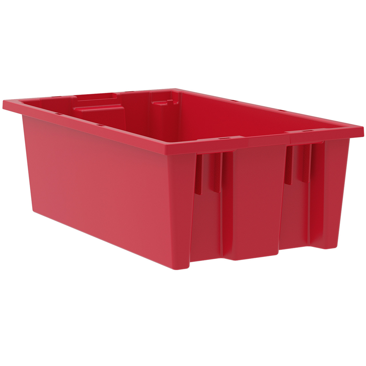 Tote, Nest & Stack Tote 18 x 11 x 6, Red  35180RED