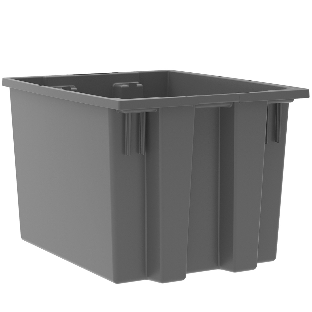 Tote, Nest & Stack Tote 19-1/2 x 15-1/2 x 13  35195GREY
