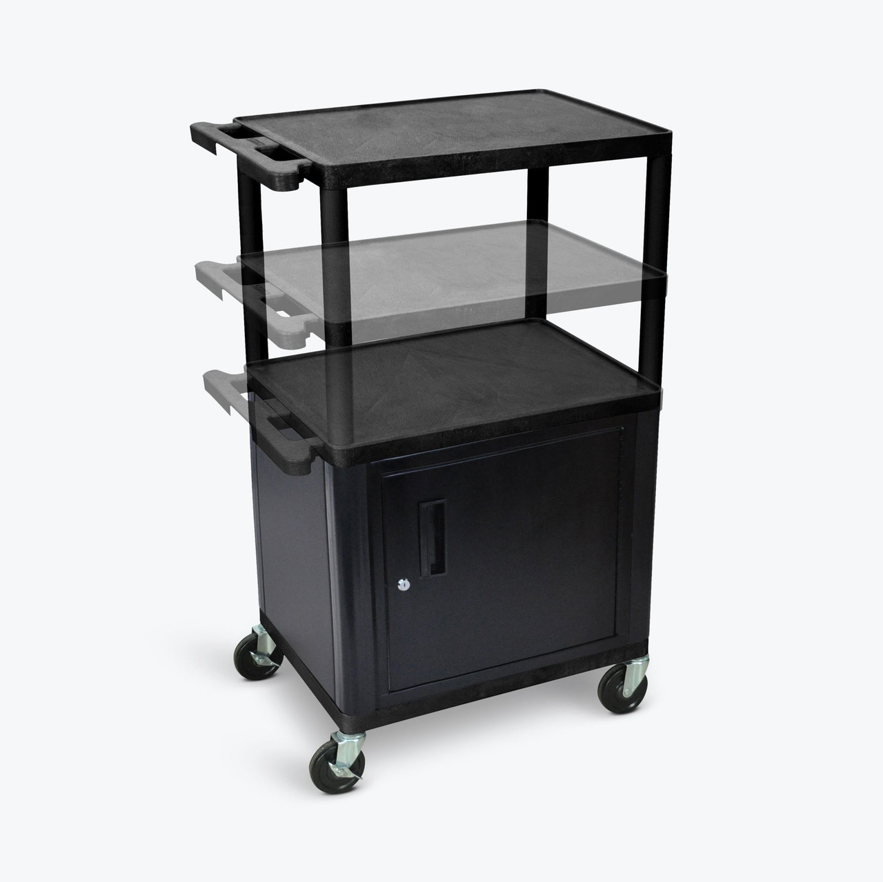 Luxor Presentation Cart BLACK LPDUOC-B