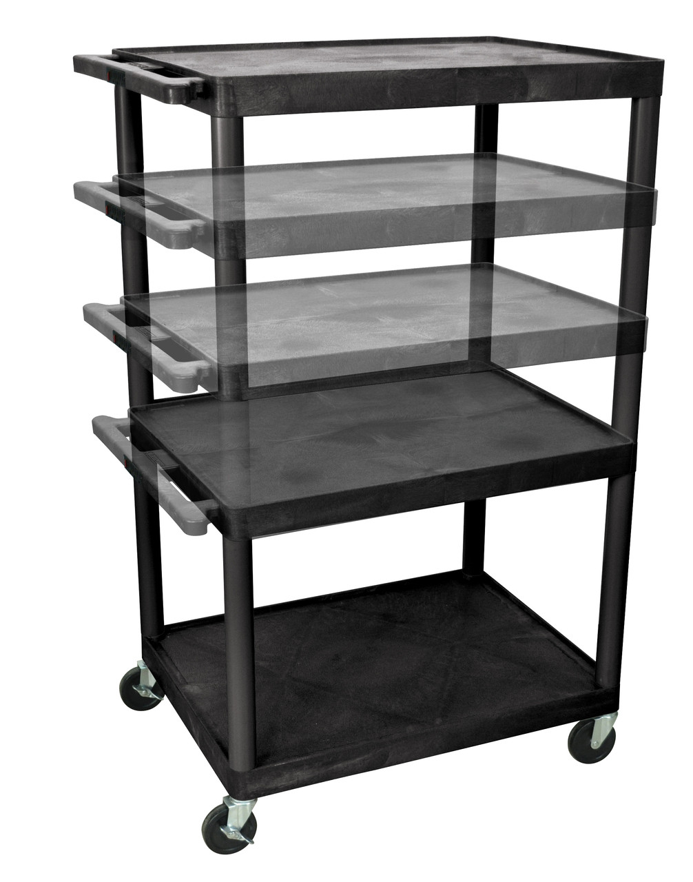 Luxor Presentation Cart BLACK LPLDUOE-B