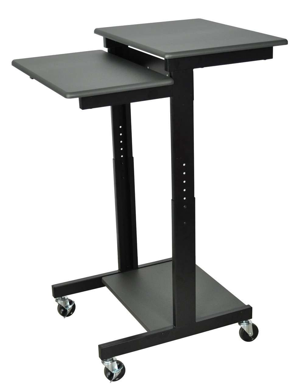 Luxor Presentation Cart DARK GRAY SURFACE/ BLACK FRAME PS3945