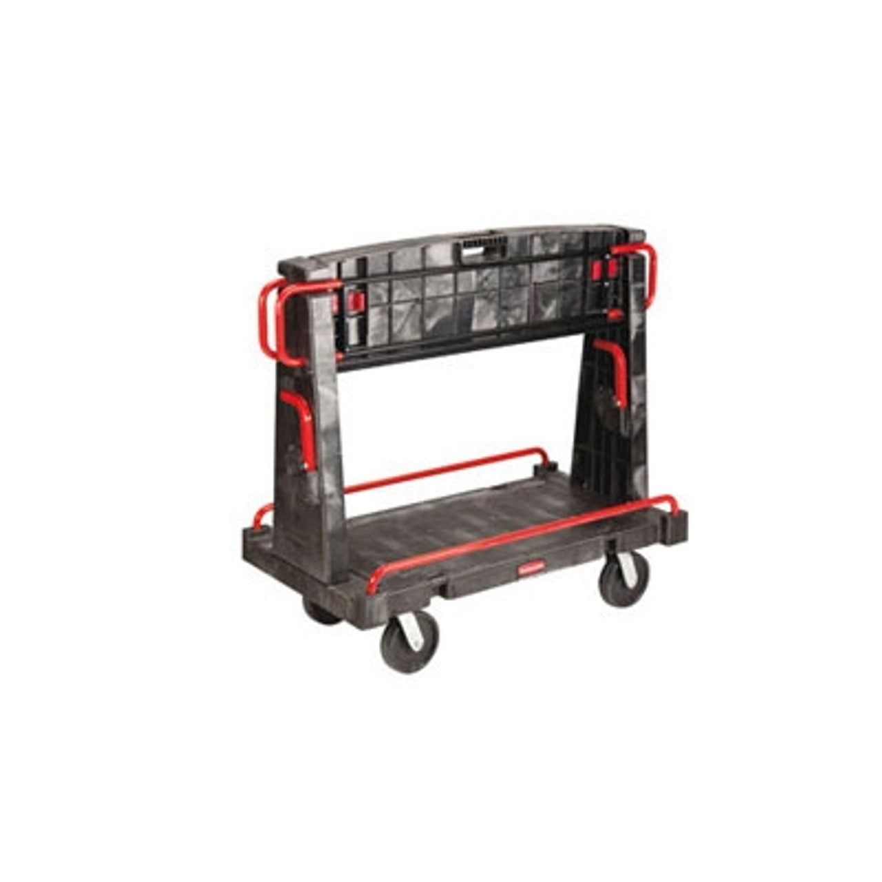 Rubbermaid Commercial A-Frame Truck, 2000-lb Cap., 2 Shelves, 27 1/4w x 50 1/4d x 49 1/2h, Black