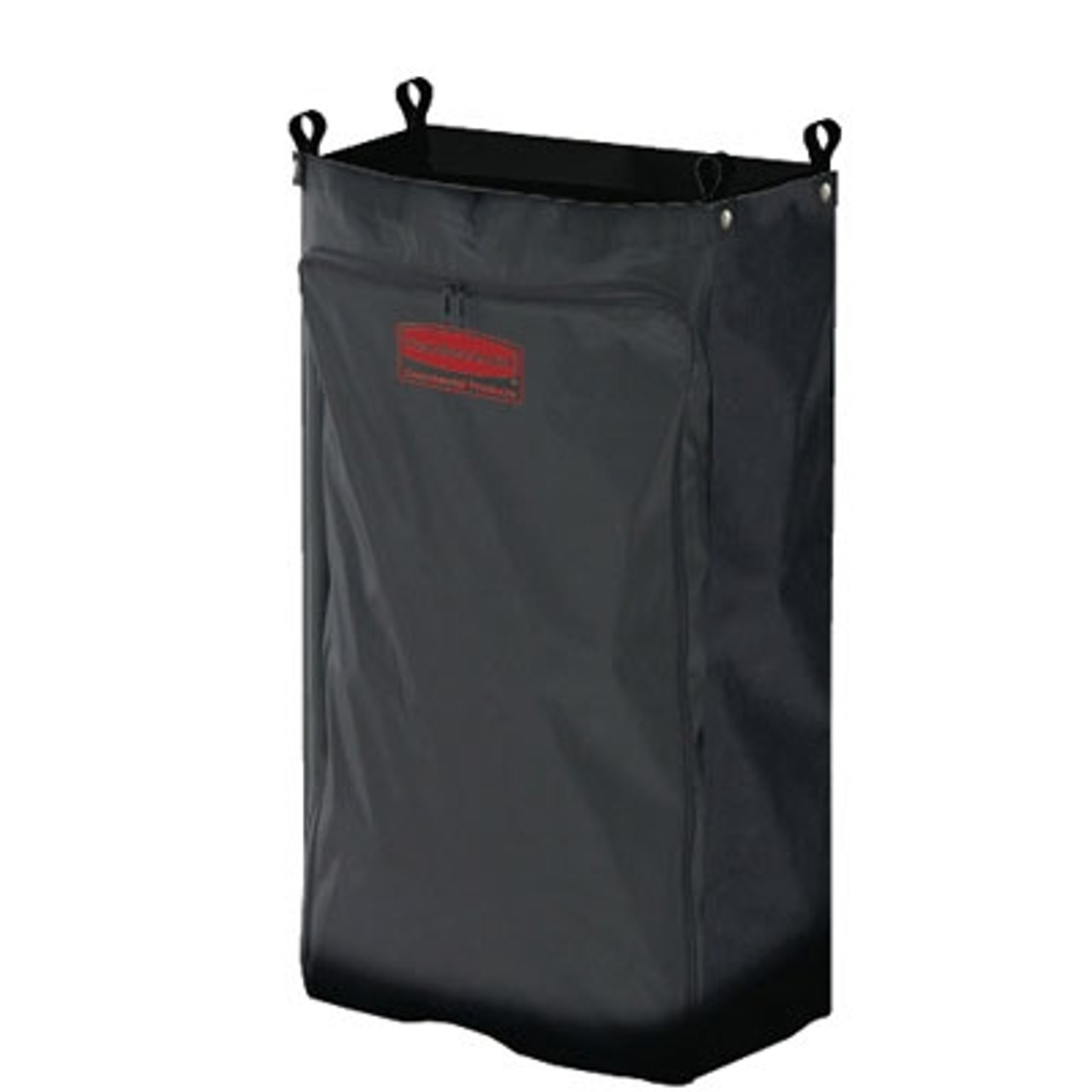 Rubbermaid Commercial Heavy-Duty Fabric Cleaning Cart Bag, 17 1/2w x 10d x 26 1/2h, Black