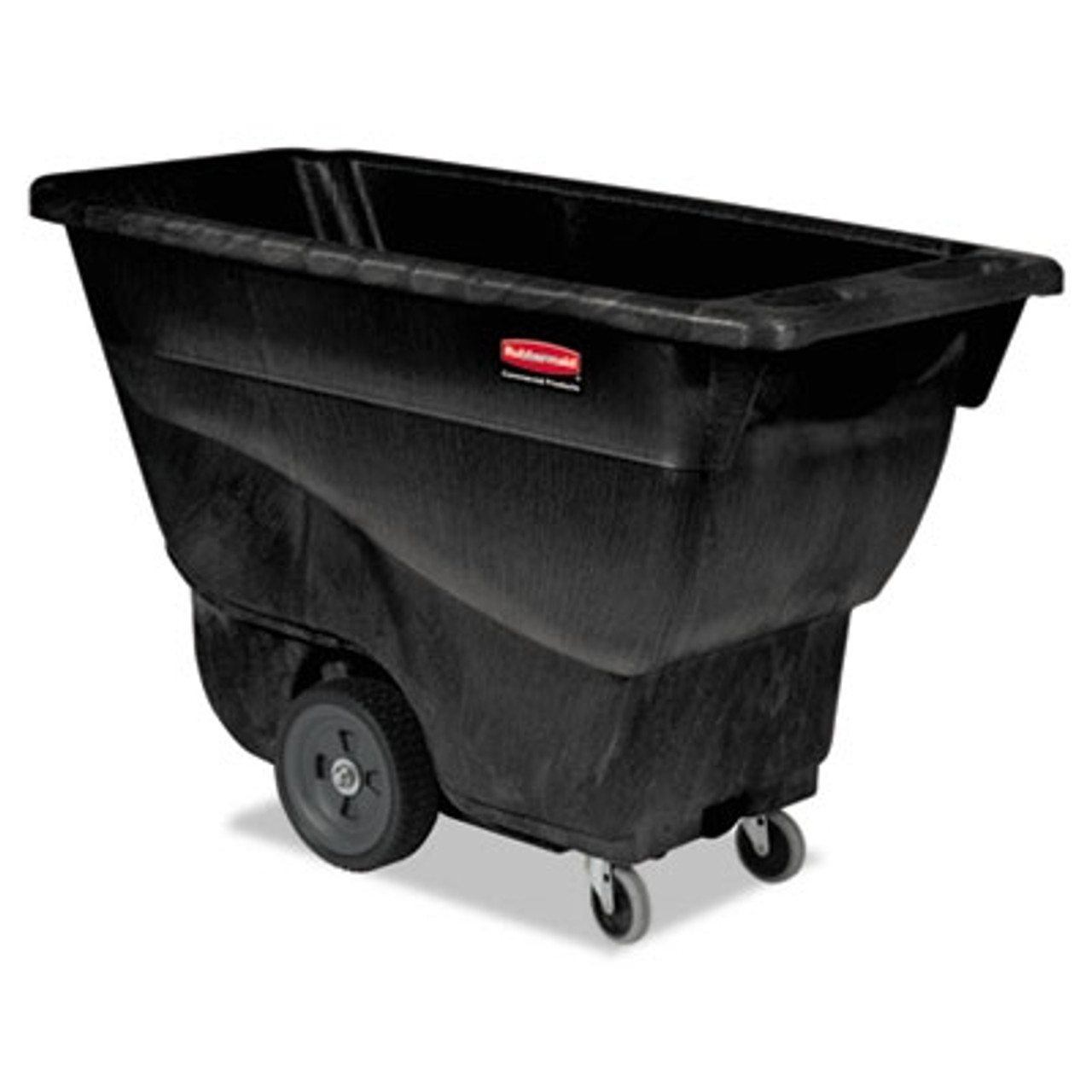 Rubbermaid Commercial Structural Foam Tilt Truck, Rectangular, 450 lb. Cap., Black