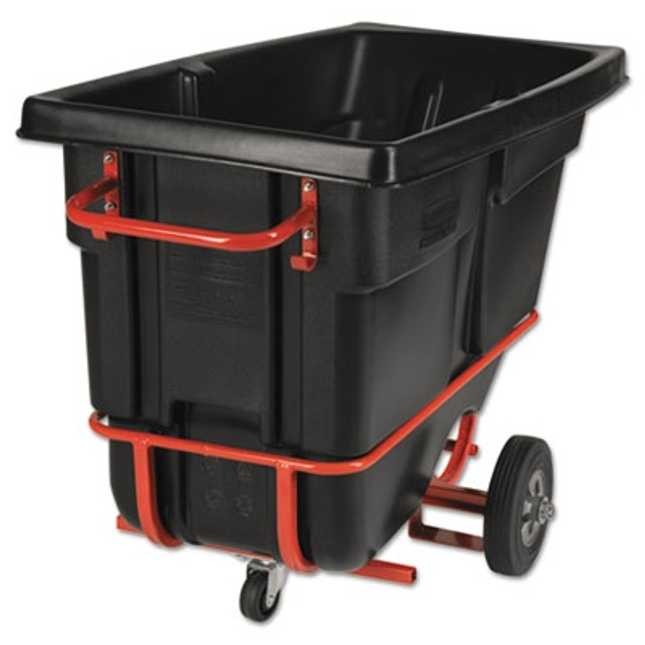 Rubbermaid Commercial Forkliftable Rotomolded Tilt Truck, 1/2 Cu. Yd, Black, 28 x 60-1/2 x 38-5/8
