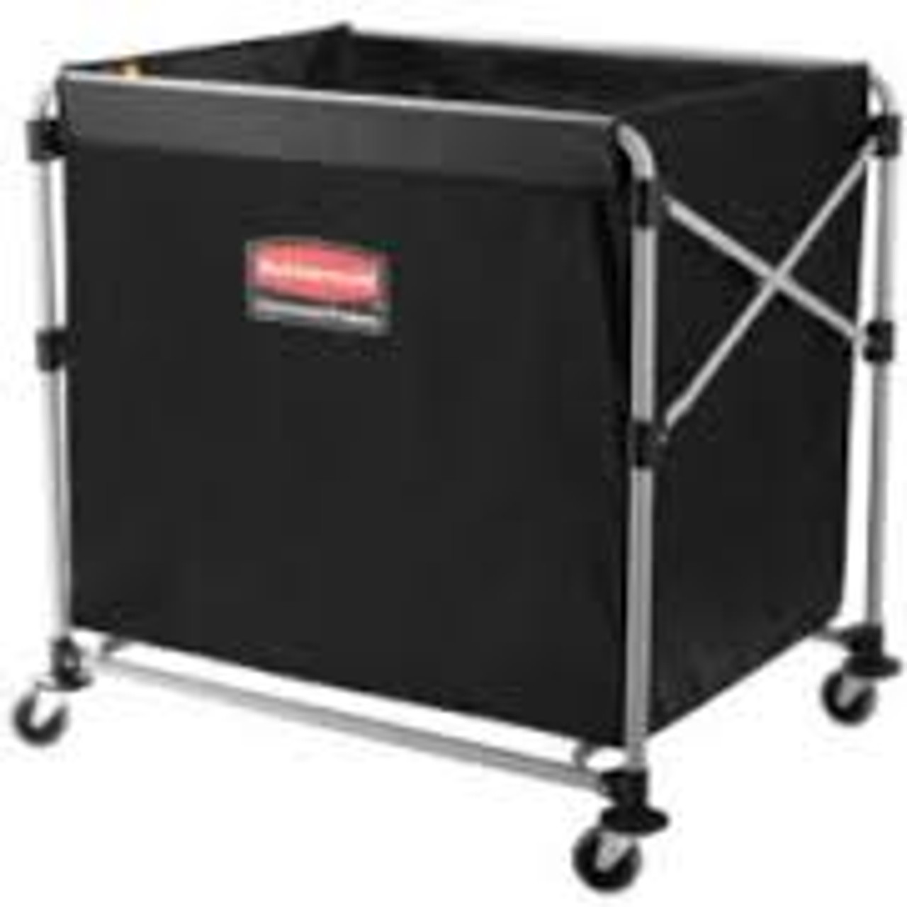Rubbermaid 1881750 Commercial Collapsible X-Cart, Black/Silver, Steel, 8 Bushel Cart