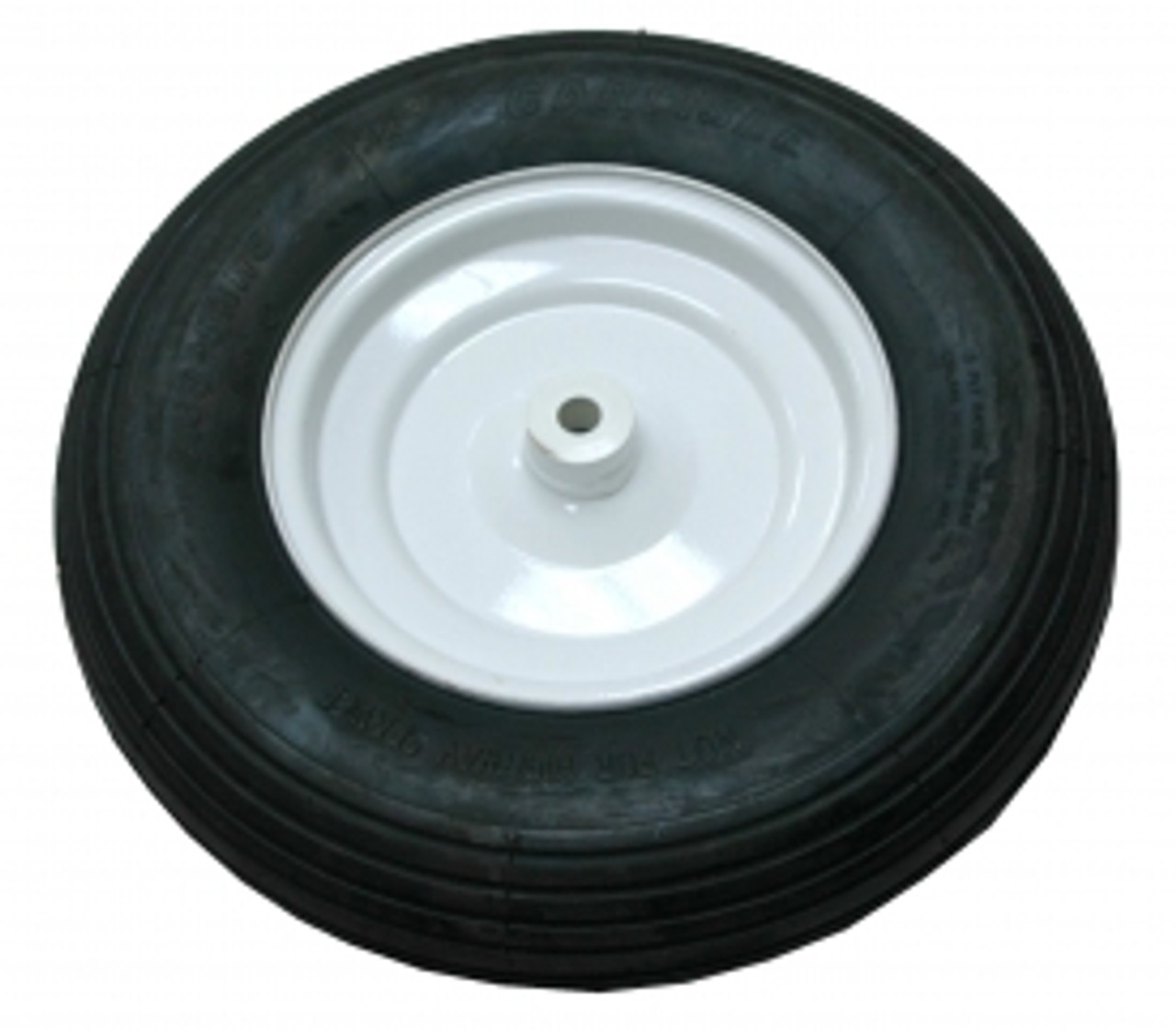 "Pneumatic wheel with knobby tread, 8"" x 2.5"", fits 564003 Low Wheel Cart"