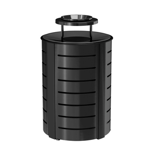 Suncast Metal Trash Can - Metal Lid