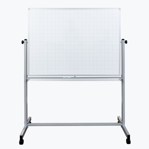 "48"" x 36"" Mobile Magnetic Double-sided Ghost Grid Whiteboard MB4836LB"