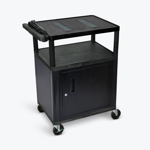 "34"" Endura A/V Cart - Two Shelves, Cabinet LE34C-B"