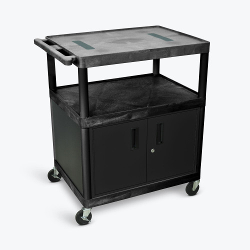 "40"" Endura A/V Cart - Two Shelves, Cabinet LE40C-B"