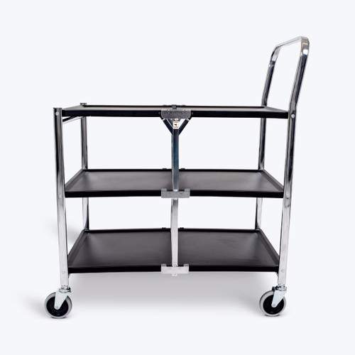 Three-Shelf Collapsible Metal Utility Cart MSCC-3