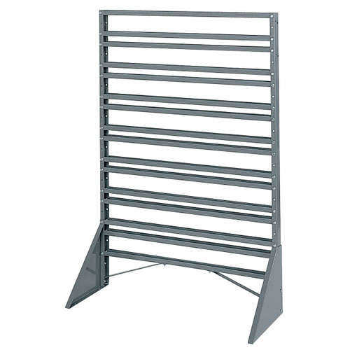 Rack, Rail Rack, 1-Sided, 16 Rails, Gray  30008