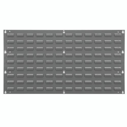 Louvered Wall Panel, 35-3/4 x 19, Gray  30136
