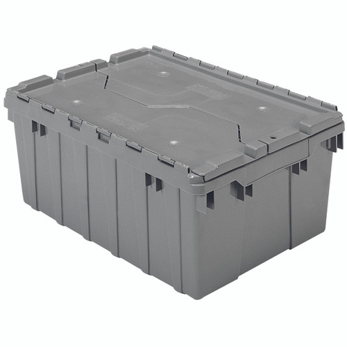 Container, Attached Lid Container 8.5 gal, Gray  39085