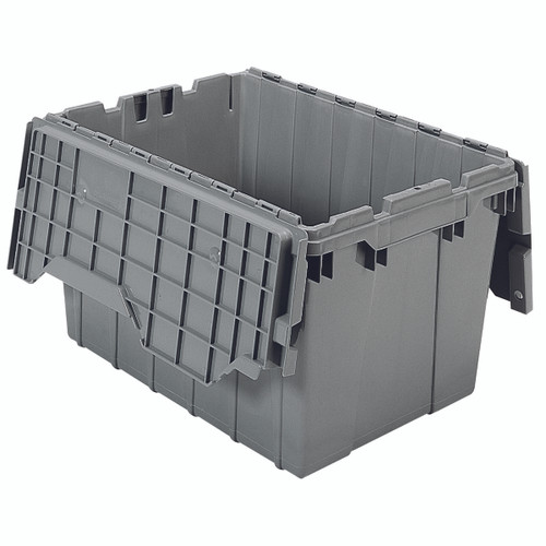 Container, Attached Lid Container 12 gal,Gray  39120