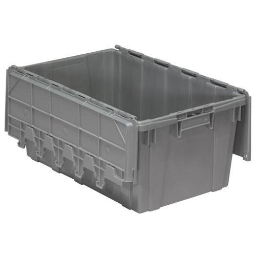 Container, Attached Lid Container 17 gal, Gray  39160