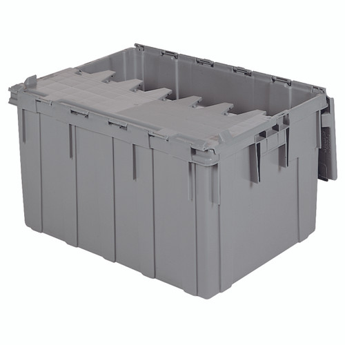 Container, Attached Lid Container 28 gal, Gray  39280