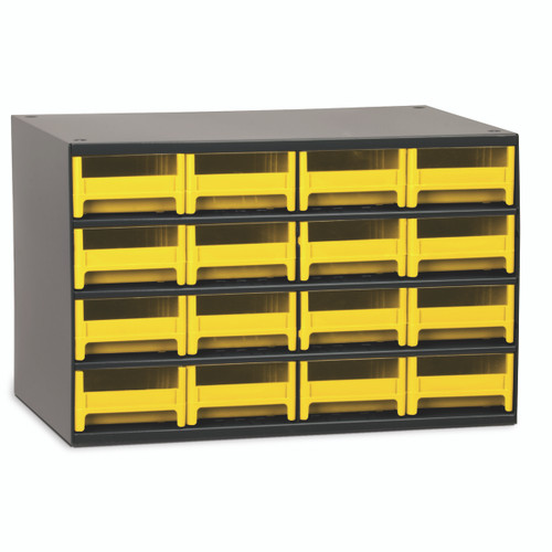 Cabinet, Steel Cabinet w/ 16 Drawers, Yell 19416YEL