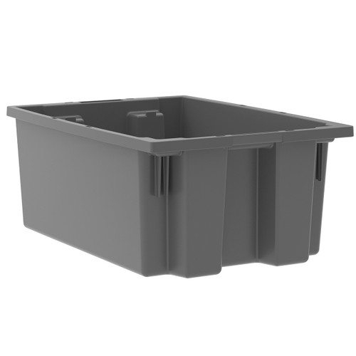 Tote, Nest & Stack Tote 19-1/2 x 13-1/2 x 8  35200GREY