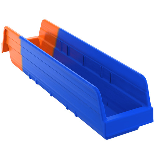 Bin, Indicator Bin 17-7/8 x 4-1/8 x 4/Orange  36448BLUE