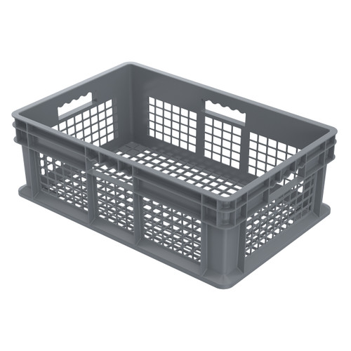 Container, Straight Wall Container, Mesh   37608GREY