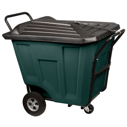 Cart, Akro-Cart w/Lid HD 90 Gal 76591GREEN