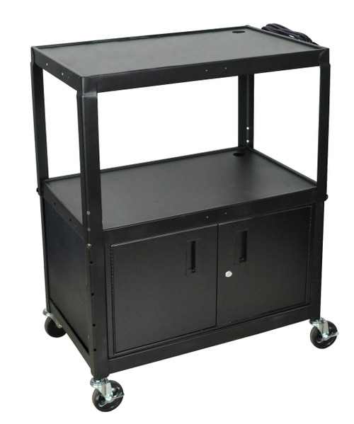 Luxor Extra Wide Presentation Cart BLACK AVJ42XLC