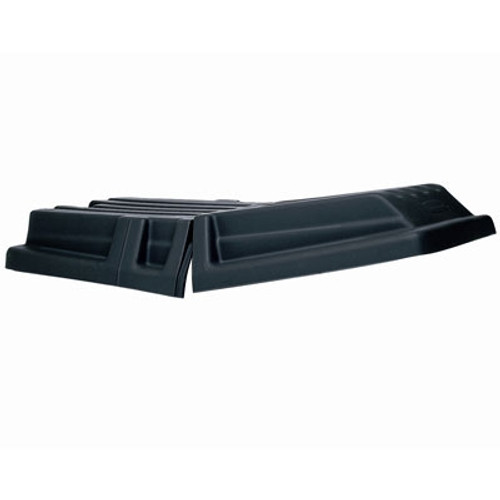 Rubbermaid Commercial Hinged Dome Tilt Truck Lid, 34w x 69 1/2d x 8 1/2h, Black