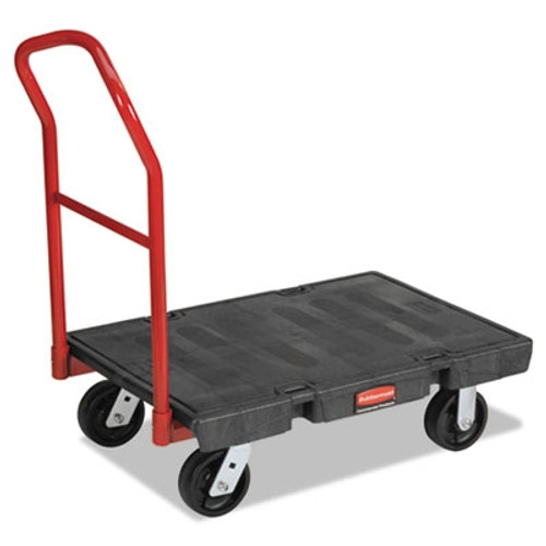 Rubbermaid Commercial Platform Truck, 1000-lb Cap., 24w x 36d x 7h, Black