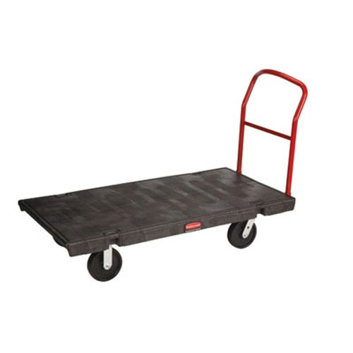 Rubbermaid Commercial Platform Truck, 1000-lb Cap., 24w x 48d x 7h, Black