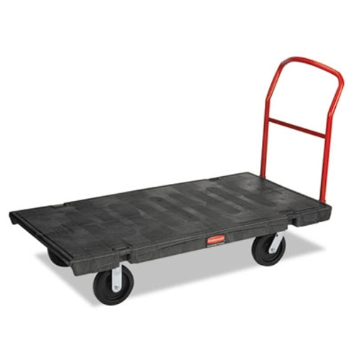 Rubbermaid Commercial Platform Truck, 2000-lb Cap., 30w x 60d x 7h, Black