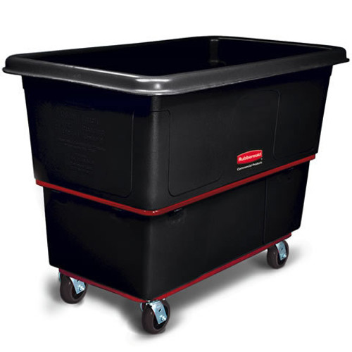 Rubbermaid Commercial Cube Truck, Rectangular, 300-lb. Cap., Black