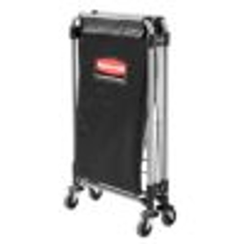 Collapsible X-Cart, Black/Silver, Steel, 4 Bushel Cart