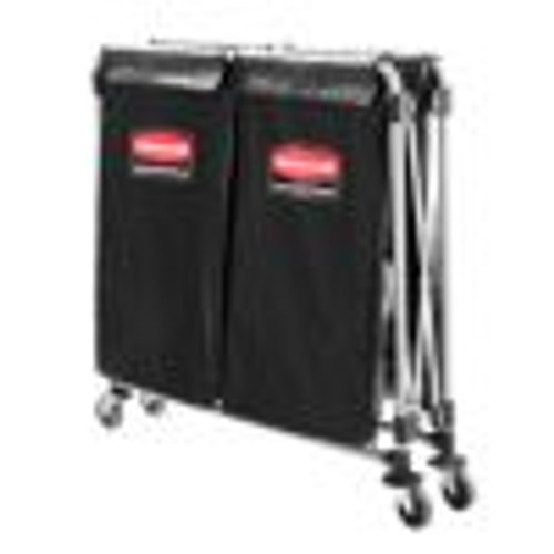 Collapsible X-Cart, Black/Silver, Steel, 2-4 Bushel Cart