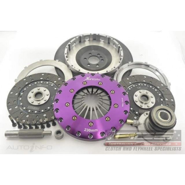 Xtreme Clutch Kit Inc Flywheel & CSC-230mm Twin Solid Organic