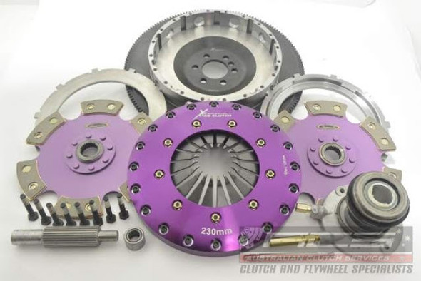 Xtreme Clutch Kit Inc Flywheel & CSC-230mm Triple Solid Organic